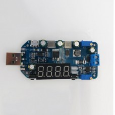 15W 2A USB Buck Boost Converter Adjustable Step Up Down Power Supply Module without Shell