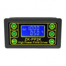 PWM Generator & Pulse Generator Frequency Duty Cycle Adjustable PWM Driver with Shell ZK-PP2K