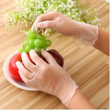 100pcs Disposable Gloves Large PVC Gloves Powder-Free Prevent Cross-Infection Cleaning Working L Size