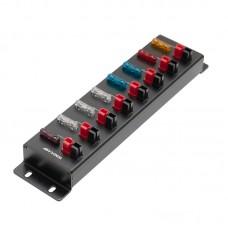 8-Port Powerpole Splitter Distributor Anderson Powerpole Screw Fixing For Shortwave Radios AP-8S