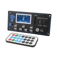 12V LCD Bluetooth MP3 Decoder Board WAV WMA Decoding MP3 Player Audio Module Support FM Radio AUX USB With Lyrics Display