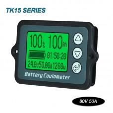 Coulometer Voltmeter Battery Capacity Voltage For Lead Acid Various Batteries (80V 50A Sampler)