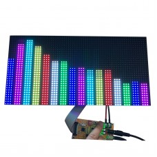 Full Color Music Spectrum Display For KTV Stage 64 Mode AS128 Sound Control P4 One-Display w/ Adapter
