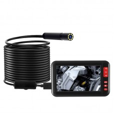 "Industrial Endoscope Inspection Camera Waterproof 8MM Lens 1080P with 4.3"" Display (5M Hard Wire)"