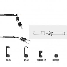 "Industrial Endoscope Inspection Camera Borescope 2MP 1080P 8MM w/ 4.3"" Detachable Screen Inskam112"
