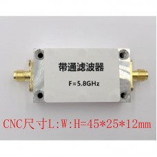 5.8GHz Band Pass Filter w/ SMA Connector For Wireless Video Transmission WiFi Receivers Anti-Jamming