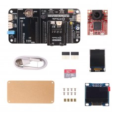 """For pyAI-OpenMV4 Cam +Adapter Board + pyBase + 0.9"""" OLED + USB Cable + 16G SD Card + 1.77"""" LCD"""