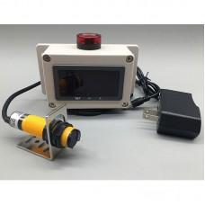 Photoelectric Sensor Motor Speed Sensor Distance 0-30cm with Display 50dB Low-Speed High-Speed Alarm