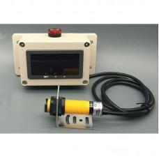 Production Digital Counter Display w/ Single IR Photoelectric Sensor 60dB Alarm Distance 70CM