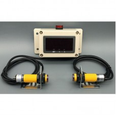 Production Digital Counter Display w/ Dual IR Photoelectric Sensors 60dB Alarm Distance 3M