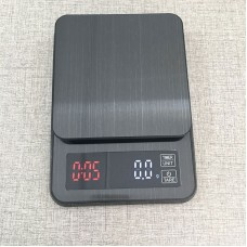 3kg/0.1g Coffee Scale Timer Digital Kitchen Scale Stainless Steel Food Scale with Timer LED Display
