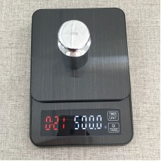5kg/0.1g Coffee Scale Timer Digital Kitchen Scale Stainless Steel Food Scale with Timer LED Display