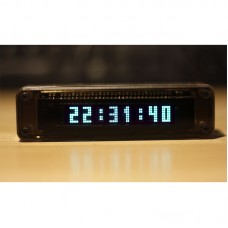 Acrylic Mini VFD Clock Vacuum Fluorescent Display Retro Tube Desk Shelf Clock VFD8