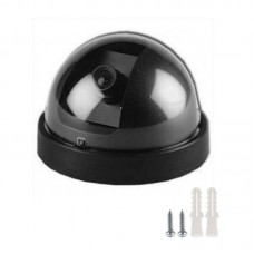 Dummy Surveillance Camera Dummy Dome Security Camera with Flashing Red LED Light For Home Office