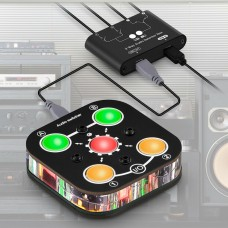 MC102-Pro Connection Unit 1 in 2 Out/ 2 in 1 Out A B Two-way Audio Switcher Headphone Splitter