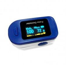 Blood Oxygen Finger Pulse Oximeter Portable Fingertip Pulse Oximeter Blood Oxygen Monitor Blue