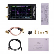 """NanoVNA-F Vector Network Analyzer Antenna Analyzer 10K-1500MHz 4.3"""" IPS Thumbwheel Version Hardware V2.3"""