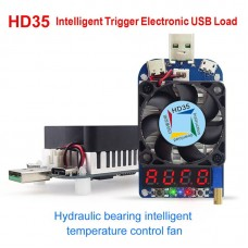 Electronic USB Load Tester Intelligent Trigger For Quick Charge AFC FCP QC3.0 2.0 HD35 5A 35W