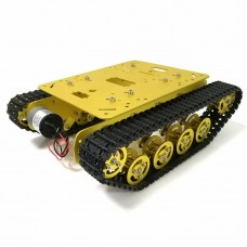 Tracked Chassis Metal Tank Chassis Smart Robot Car with 12V 300RPM 37 Motors TS100 Unassembled