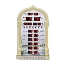 Muslim Azan Clock Digital Ramadan Wall Clock Islamic Prayer Alarm Timer Reminder HA-4008 Gold