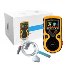 Baby Pulse Oximeter Handheld Color OLED SpO2 PR PI Monitor Prince-100F (with Baby Foot Wrap Probe)