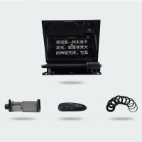 DSLR Camera Teleprompter Portable Prompter with 147x126mm Screen for Interview Shooting Video Live