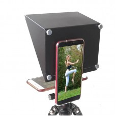 Mobile Phone Teleprompter Portable DSLR Camera Prompter YS-ZX5 for Live Shot Video Interview Speech