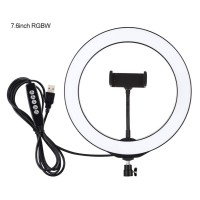 """10.2"""" Ring Fill Light LED Dimmable with Phone Clip Ball Head For Video Live Camera Makeup PU433B"""