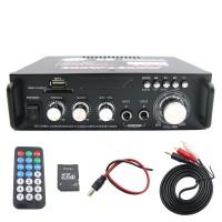 600W Speaker Amplifier HiFi Mini Amplifier 2CH FM Radio LCD Display Home Car 298A Bluetooth Version