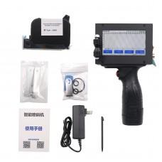 Handheld Inkjet Printer 600DPI Portable Inkjet Printer Touch Color Screen w/ Chinese Ink Cartridge