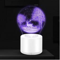 USB LED Mosquito Killer Lamp Photocatalytic Mosquito Killer Light (USB Interface+Plug)