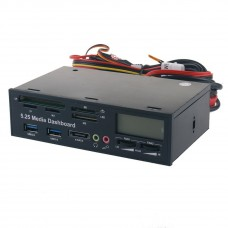 """5.25"""" Media Dashboard Multi-Card Reader Usb3.0 Front Optical Drive Panel Optical Drive Multifunctional Panel 525F20"""