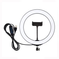 """10.2""""/26cm Dimmable LED Ring Light Fill Light 3 Modes w/ Tripod Ball Head & Phone Clamp PU397"""