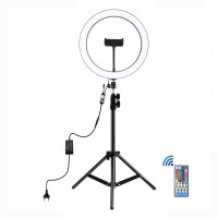 """11.8"""" Dimmable LED Ring Light with Tripod Stand 1.1m w/ Tripod Ball Head & Phone Clamp PKT3050"""