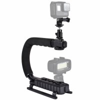 DSLR Stabilizer w/ Tripod Head & Phone Clamp & Quick Release Buckle & Long Screw For SLR PU3006