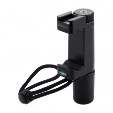 Handheld Stabilizer Phone Grip Holder ABS Tripod Adapter Mount w/ Cold Shoe Base & Wrist Strap PU366
