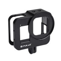 Camera Rig Camera Cage Housing Shell CNC Aluminum Alloy w/ 52mm UV Lens For GoPro HERO8 Black PU449B