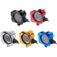 Camera Cage Housing Shell Aluminum Alloy w/ 52mm UV Lens For GoPro HERO6 Black HERO5 Black PU183