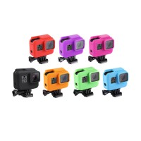 Shock-proof Silicone Protective Case w/ Lens Cover For GoPro HERO(2018)/7 Black/6/5 with Frame PU190