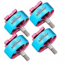4pcs T-Motor Outrunner Brushless Motor FPV Motor 4S Max Thrust 1204G P2306.5 KV2400 Blue+Pink