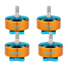 4pcs T-Motor Outrunner Brushless Motor FPV Motor 5-6S P2207.5 KV1750 Orange+Blue For FPV Racing Drone