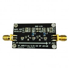 RF Wideband Amplifier LNA 0.1M-2G Gain 60DB Two-Stage Amplification Professinal Audio AMP Module