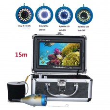 15M 1000TVL Fish Finder Underwater Fish Finder 7.0 Inch Display Professional Fishing Camera 15 Infrared Bulbs 15 White LEDs