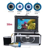50M 1000TVL Fish Finder Underwater Fish Finder 7.0 Inch Display Professional Fishing Camera 15 Infrared Bulbs 15 White LEDs