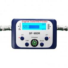SF-95DRL Digital Satellite Finder Satellite Signal Meter Compass TV Dish FTA LNB Satfinder Receiver