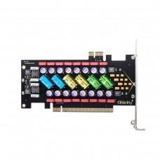 PC HiFi Power Filter Card PCI/PCI-E HiFi PC Audio Power Supply Purification w/ Colorful LED AXF-107