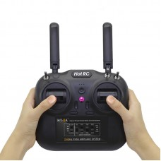 HOTRC Remote Control 6 Channel 2.4G Controller with Receiver for RC Fixed-wing Multi-rotor Model