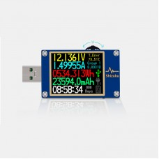 USB Tester Meter PD Tester Voltage Ammeter Quick Charge Data Cable Charging Head Programmable YK001