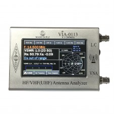 """0.1-1000MHz HF VHF Antenna Analyzer with 4.3"""" TFT Imported Capacitive Touch Screen VIA-0113 Silver"""