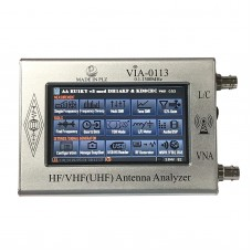 """0.1-1300MHz HF VHF Antenna Analyzer with 4.3"""" TFT Imported Capacitive Touch Screen VIA-0113 Silver"""